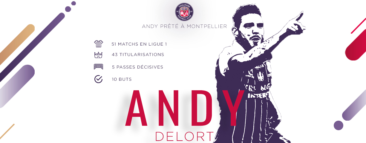 Maillot Domicile MONTPELLIER Andy DELORT